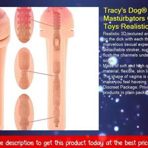 Tracy's Dog® Male Masturbators Cup Adult Sex Toys Realistic Textured Pocket Vagina Pussy Man Mastur