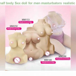 Cheap! 1:1 women half body Sex doll for men masturbators realistic girl artificial vagina sexy voic